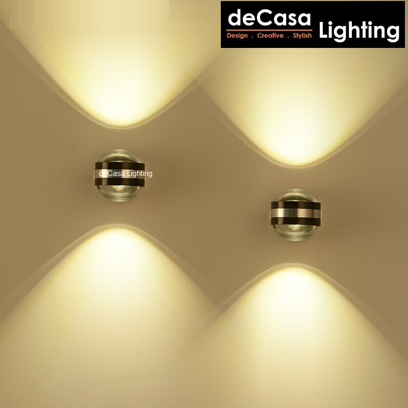 DECASA LIGHTING LED Wall Light Indoor 6W Warm White Decoration Lighting Wall Lamp Wall Effect Light Lampu Dinding (BD29)
