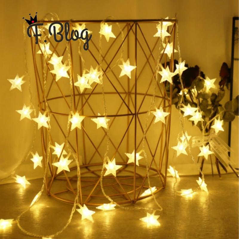 Led Star Lights Flashing Lights String Lights Starry Red Bedroom Lighting Network Arranged Dorm Room Decorations Ins Shopee Malaysia