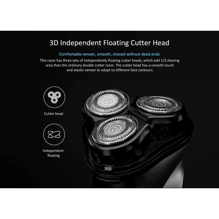 MALAYSIA : PENCUKUR ELEKTRIK BOLEH RECHARGEABLE / BlackStone 3D Electric Shaver Razor [Xiaomi ecological chain product]