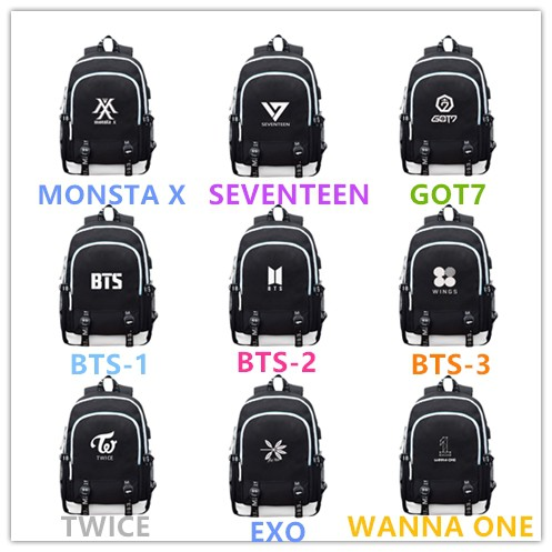 Twice Monstax Backpack Bag Exo Cute Bag Got7 Bookbag Student Back To School Special Buy Luggage & Bags Backpacks