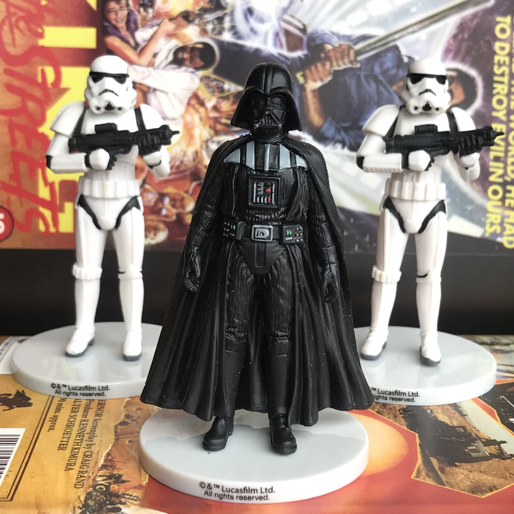 Enjoyable Star Wars Darth Vader Stormtrooper Model Kits Birthday Cake Topper Personalised Birthday Cards Paralily Jamesorg