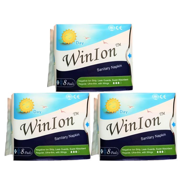 [Genuine] Winalite Winion DAY Use Sanitary Napkin with Anion Stripe 3 Packs (24 Pcs) Exp 2022 月月爱