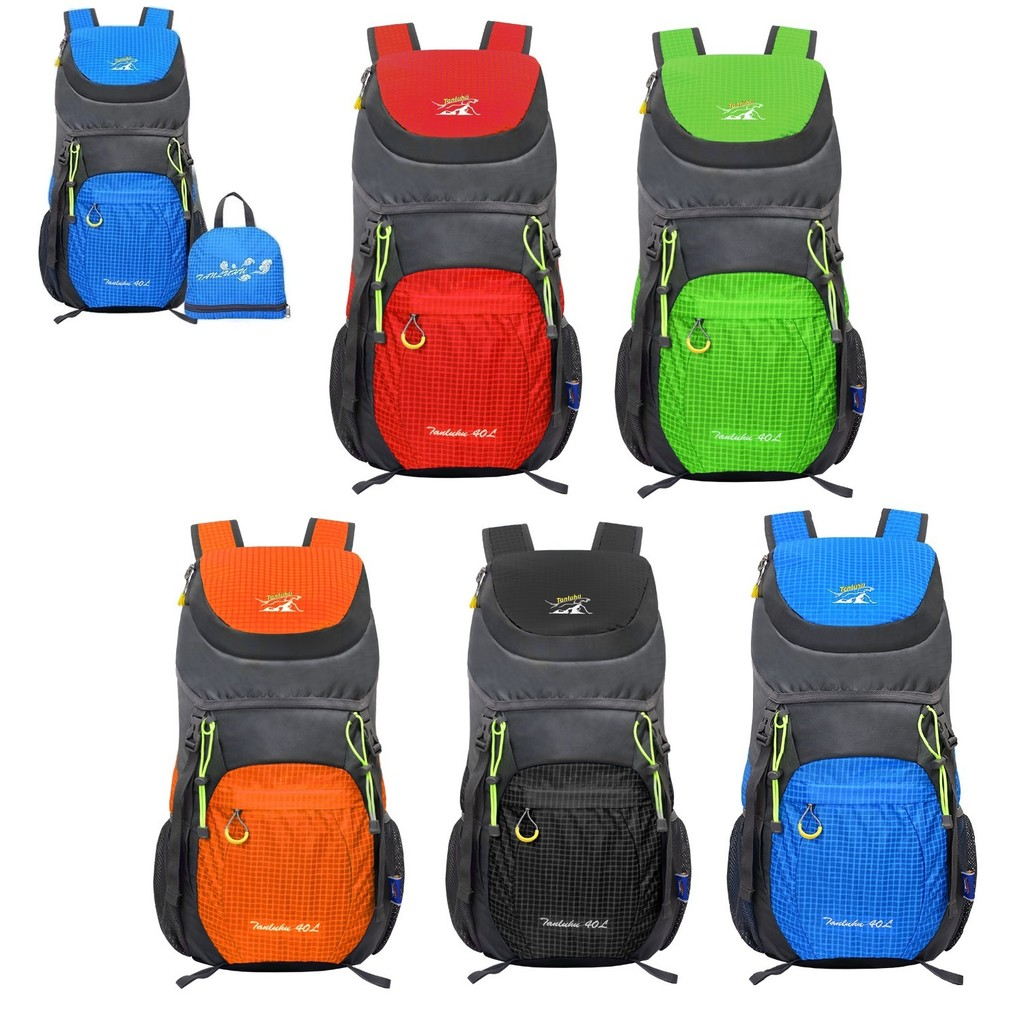NODLAND Light Weight Backpack 40L Foldable Water-Resistant Daypack Hiking Out...