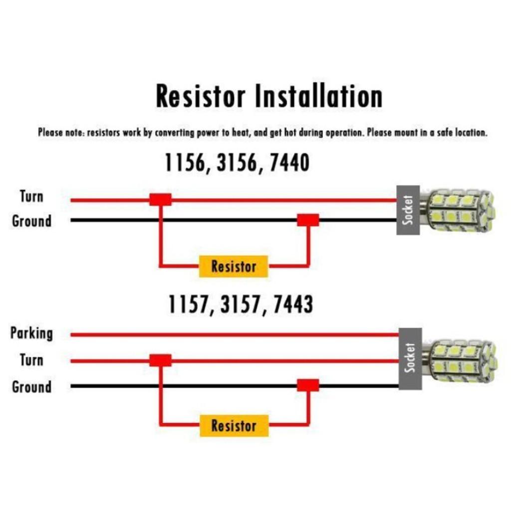 H4 Led Bulb Warning Error Canceller Decoder 1157 Socket Wiring Diagram For Resistor Harness Shopee Malaysia