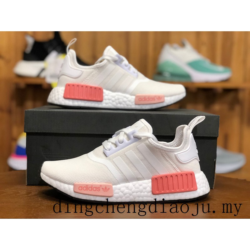 Adidas NMD R1 W Boost White Pink Running Shoes Women Casual Sport Shoes BY9952