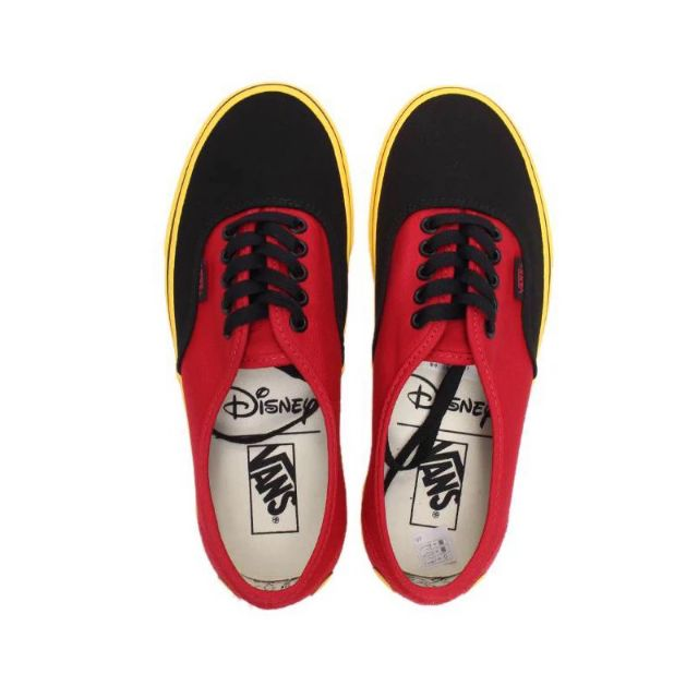 Disney x Vans Authentic Mickey Mouse Red Yellow Men Shoe Sneaker