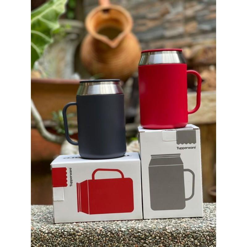 Tupperware India Desk Mug Grey & Red 400ml