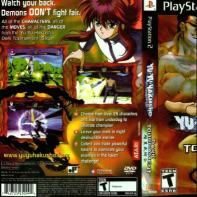 Ps2 Game Yu Yu Yakusho Dark Tournament Shopee Malaysia