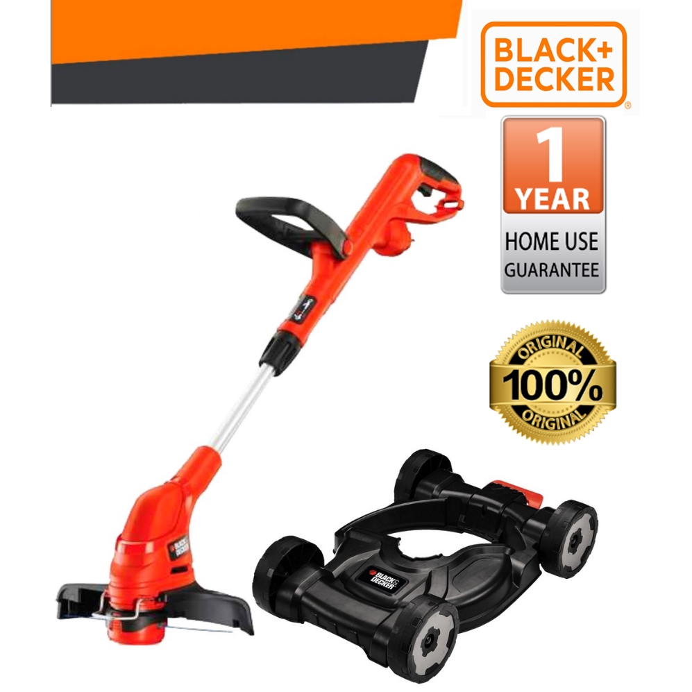 BLACK & DECKER GL5530 + CM100-B1 OUTDOOR 550W STRING GRASS TRIMMER WITH CITY MOVER KAWASAN LUAR PEMOTONG RUMPUT SAFETY