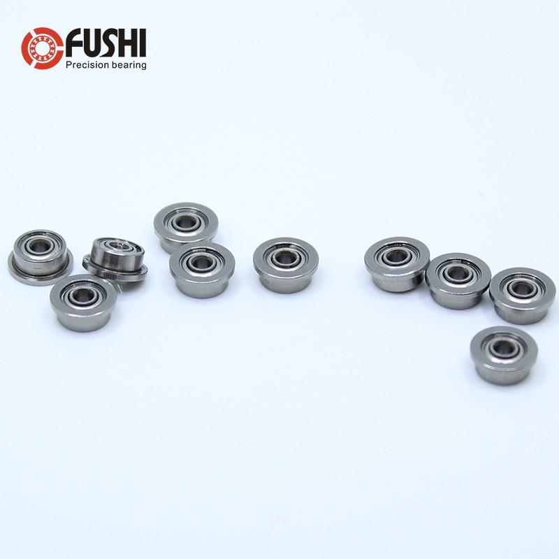 2x6x3 mm F692zz 10 PCS Flange Metal Shielded Ball Bearing F692 2*6*3