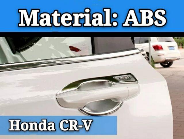 Matte Chrome interior Door Handle bowl Molding Trim For Honda CRV CR-V 2017-18