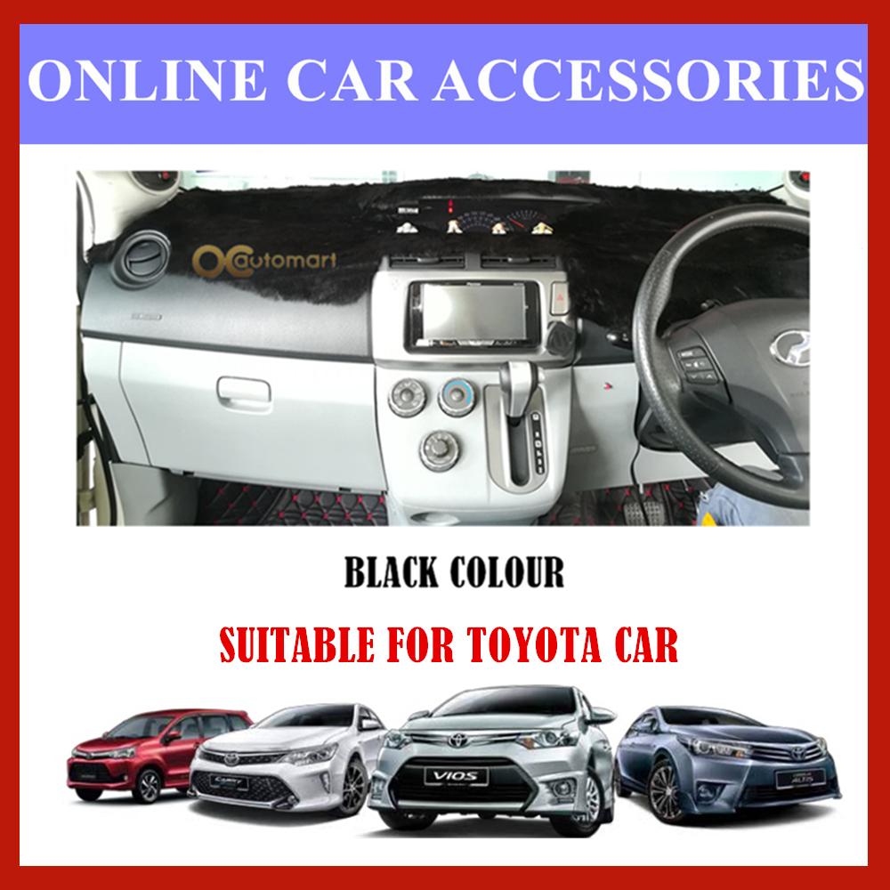 (Colour Black) Customized Dashboard Cover Fur / Bulu For Honda Nissan Toyota Isuzu