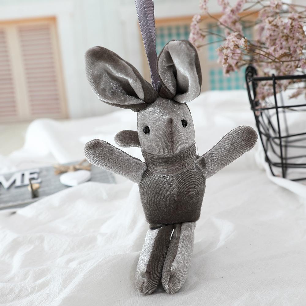 Mini Keychain Rabbit Bunny Keychain Cute Animal Plush Bag Gift Valentine Decoration Keychain Rabbit Anak Patung Rabbit