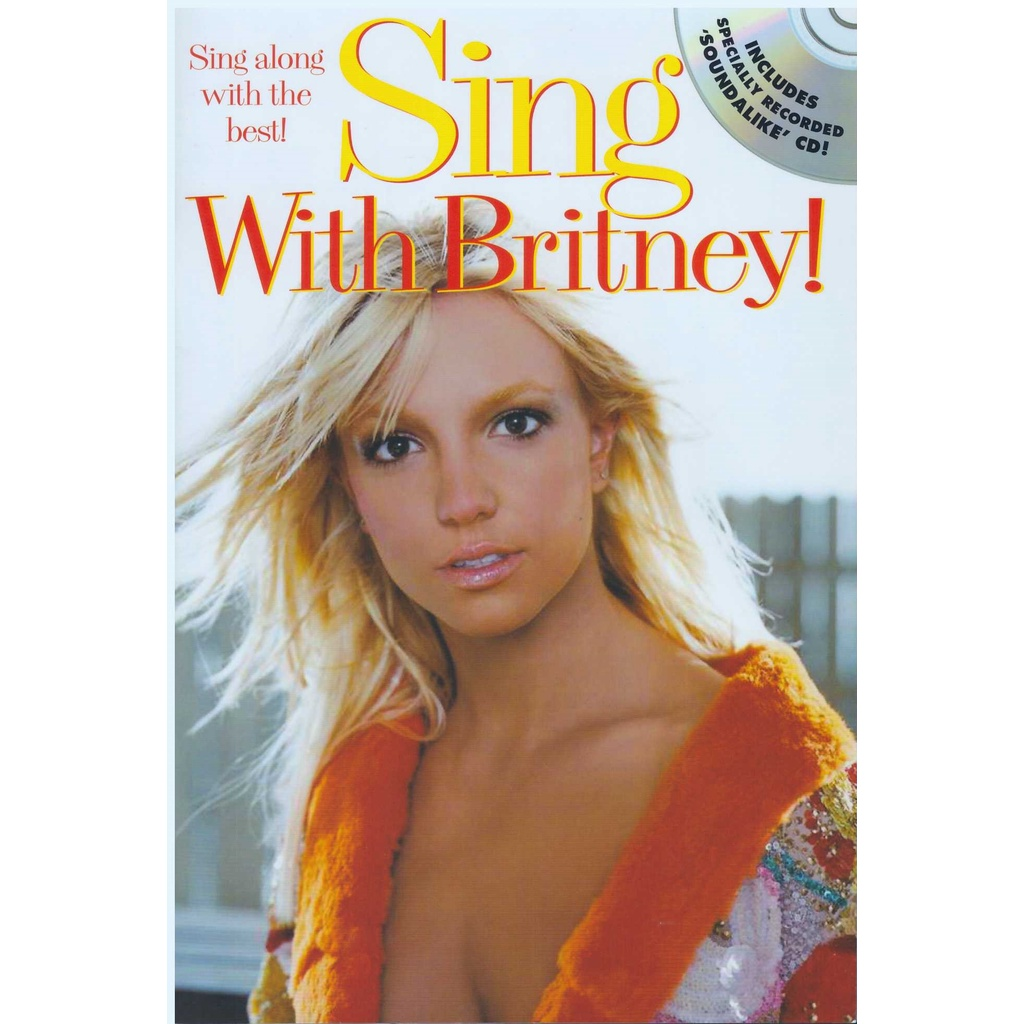 Sing With Britney! (25Cm X 17CM) / Music Book / Guitar Chord Book / Song Book / Voice Book