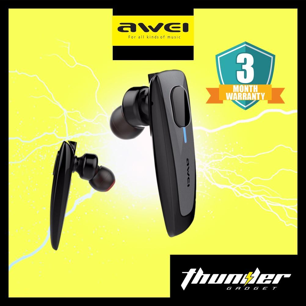 Awei N3 Business Style Wireless Smart Headset Bluetooth Stereo In-Ear Earphone