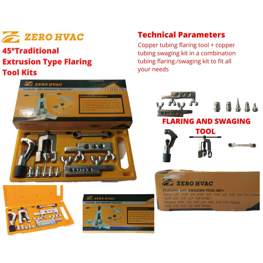 45°TRADITIONAL EXTRUSION TYPE FLARING TOOL KITS (LT-278A)