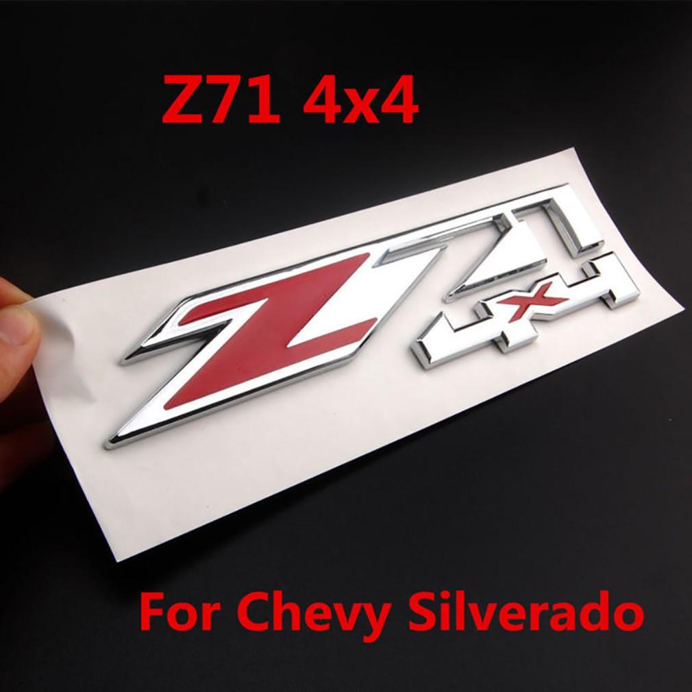 Red chrome car offroad z71 4x4 emblem sticker badge for chevy silverado gmc 4x4 shopee malaysia