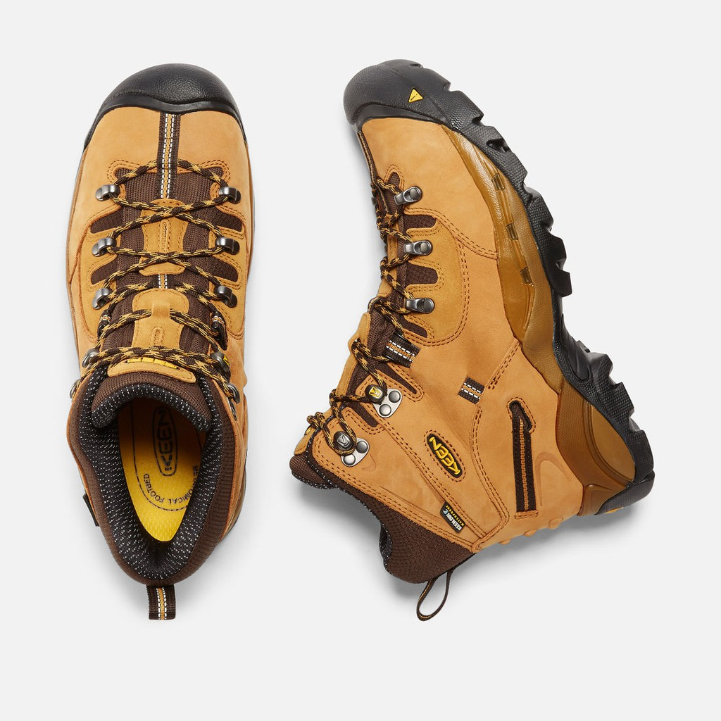 Pittsburgh Keen Utility work safety steel toe boot hiker shoe 1016948 wheat gold