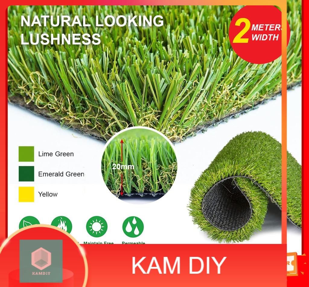 High-Quality 20MM Fake Grass Carpet Artificial Rumput Indoor Outdoor Décor