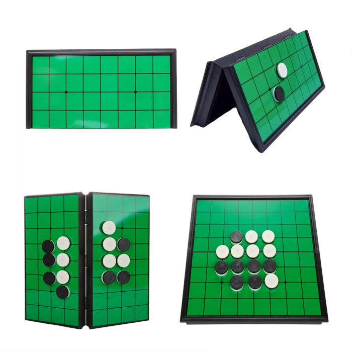 MALAYSIA] ALAT PERMAINAN CATUR / Game Set with Magnetic Folding Board 10 X 10 Inches