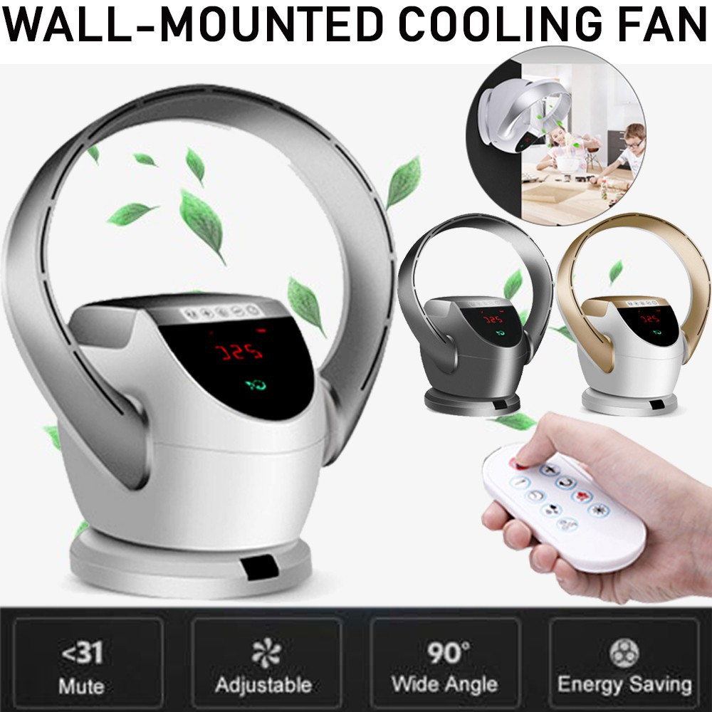 Wall-Mounted Air Conditioning Fan Remote Control-Shake Bladeless Cooling Fan
