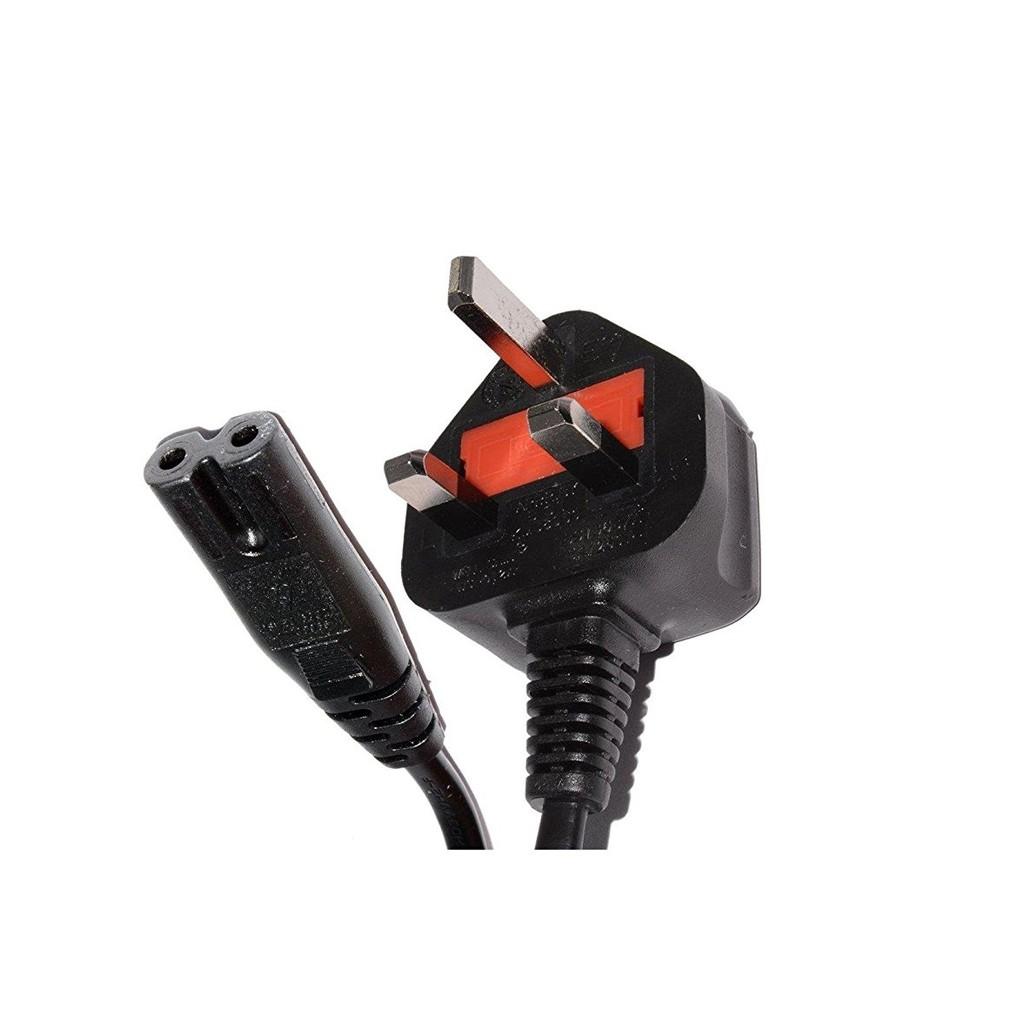 AC 3 Pin UK Plug to EU 2 Prong power cord cable 1.5M c/w Fuse (printer/laptop)