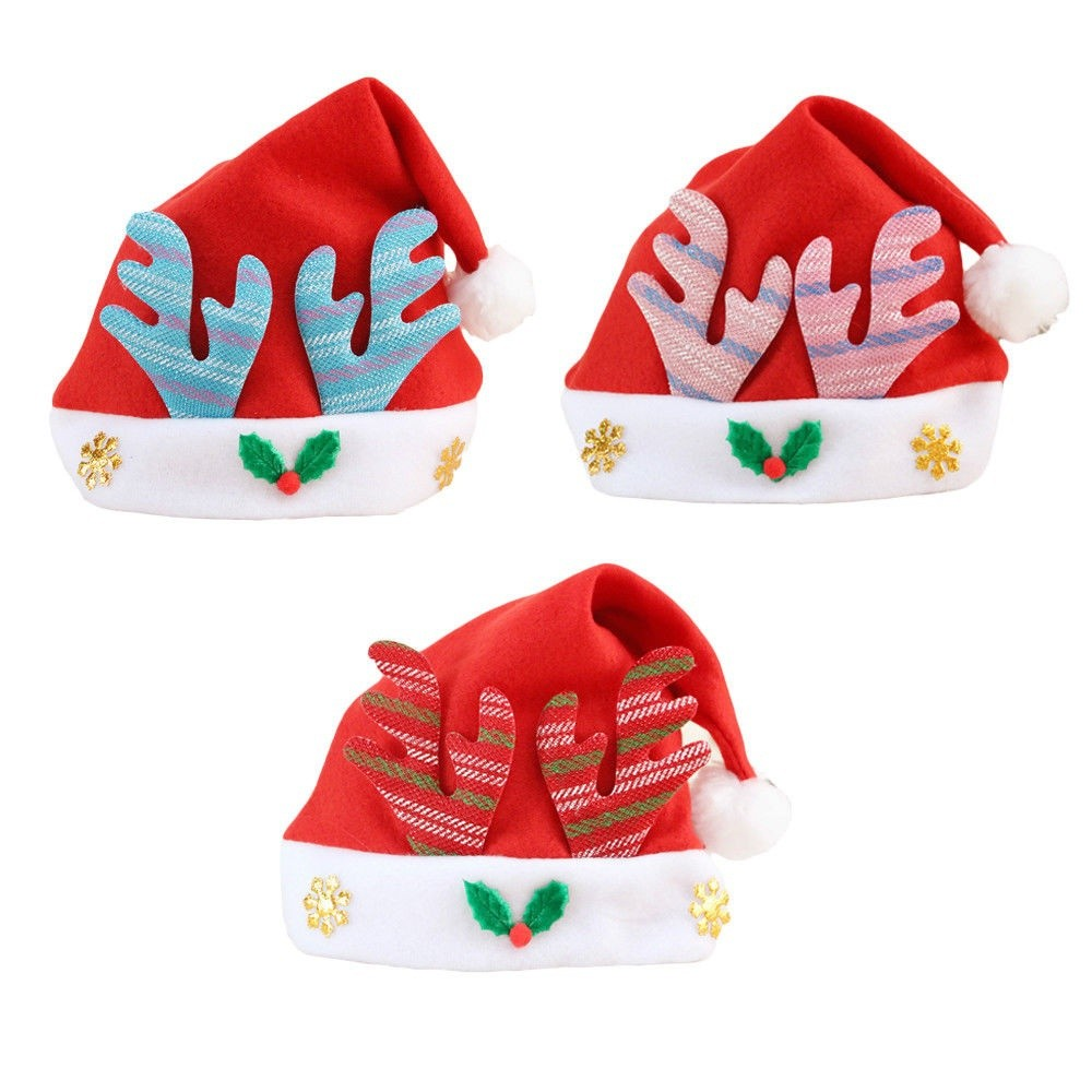 Christmas Hats For Kids.Cute Kids Infant Toddler Baby Christmas Hats Children New Year Xmas Home Decor