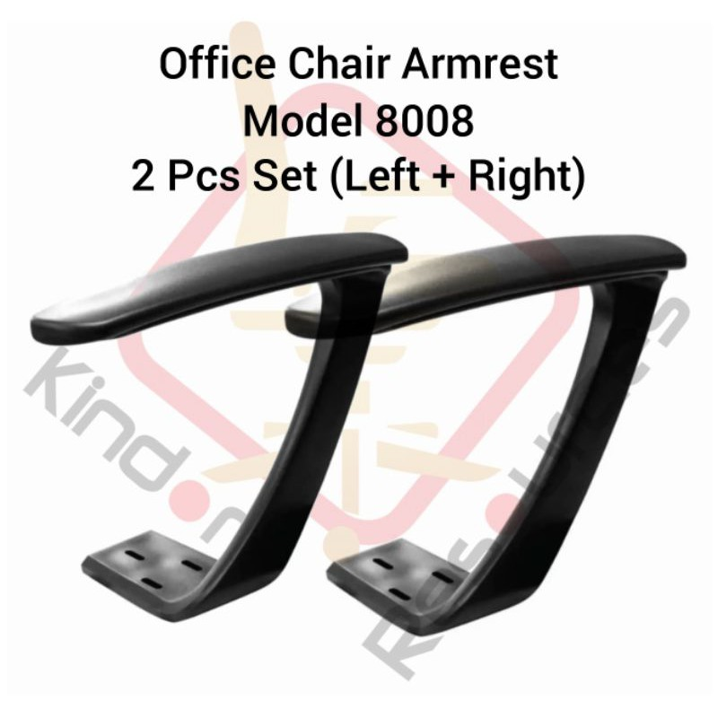 Office Chair Arm Rest 8008 Set Left+Right (High Quality) (Office Chair Wheel / Office Chair Sport Wheels / Office)