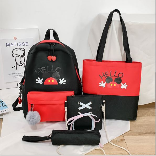 Mickey Backpack Hand Backpack  Mickey 4 IN ONE Sets 米奇老鼠背包 BP0014