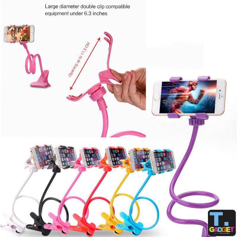 Phone holder Universal 360 Rotating Flexible Long Arm lazy Phone Holder Clampw | Shopee Malaysia