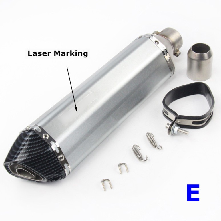 470mm Universal Motorcycle ATV Scooters Exhaust Muffler Pipe DB Killer 38-51mm