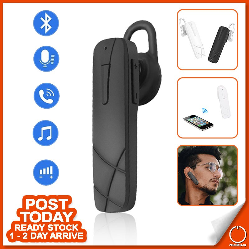 Bluetooth 4 0 Sports Formal Wireless Earphone Ear-hook With Microphone  Calling Function and Volume Control Button