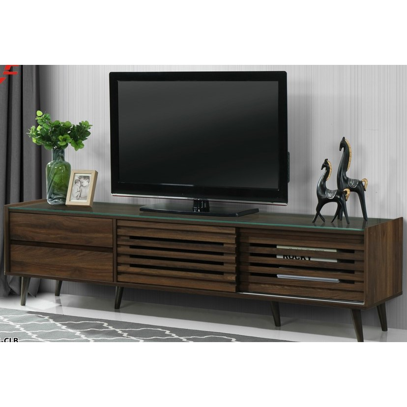 6ft Tv cABINET/ HALL CABINEPU LAMINATION WITH GLASS TOP, IMPORTED 2021 DESIGNER SERIES