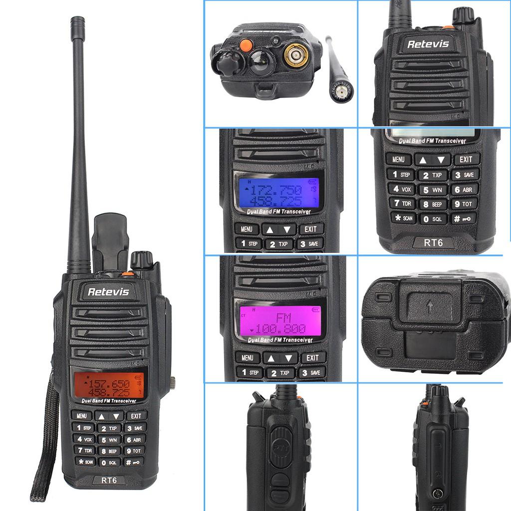 Waterproof ANTI-DUST Walkie Talkie RT6 VHF//UHF 128CH 2-Way Radio