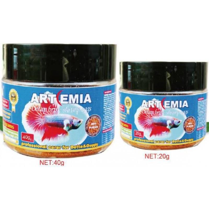 [ NEW ] TOPKA Artemia Brine Shrimp Eggs Fish Food 20g, 40g - Protein 60%   脱壳丰年虾   Makanan Ikan
