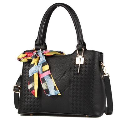 Fashion Lady Hand-Held Single Shoulder Slung Handbag (BLACK)