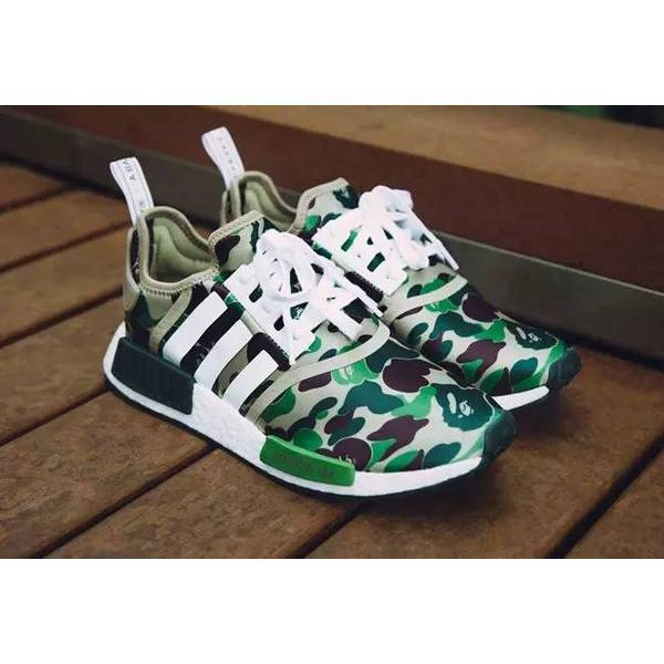 new product 21df9 58760 BAPE x Adidas NMD R1 Camouflage joint qualifying BA7325 BA7326