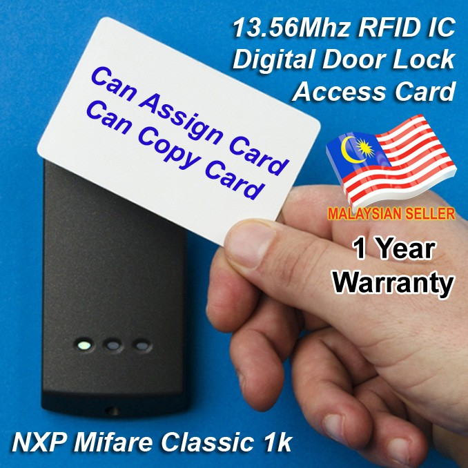 Digital Door Lock Entry Access Card RFID 13 56Mhz Mifare IC 13 56 Mhz IC  Type A