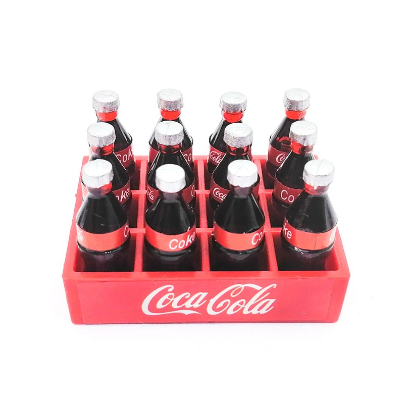 RC Car 1//10 Mini Coke Bottle and Tray Model Toys Decorative Accessories for CC01 RC4WD Axial SXC10 Tamiya D90 D110 TRX-4 Trx4 Rock Crawler Car TF2 Silver