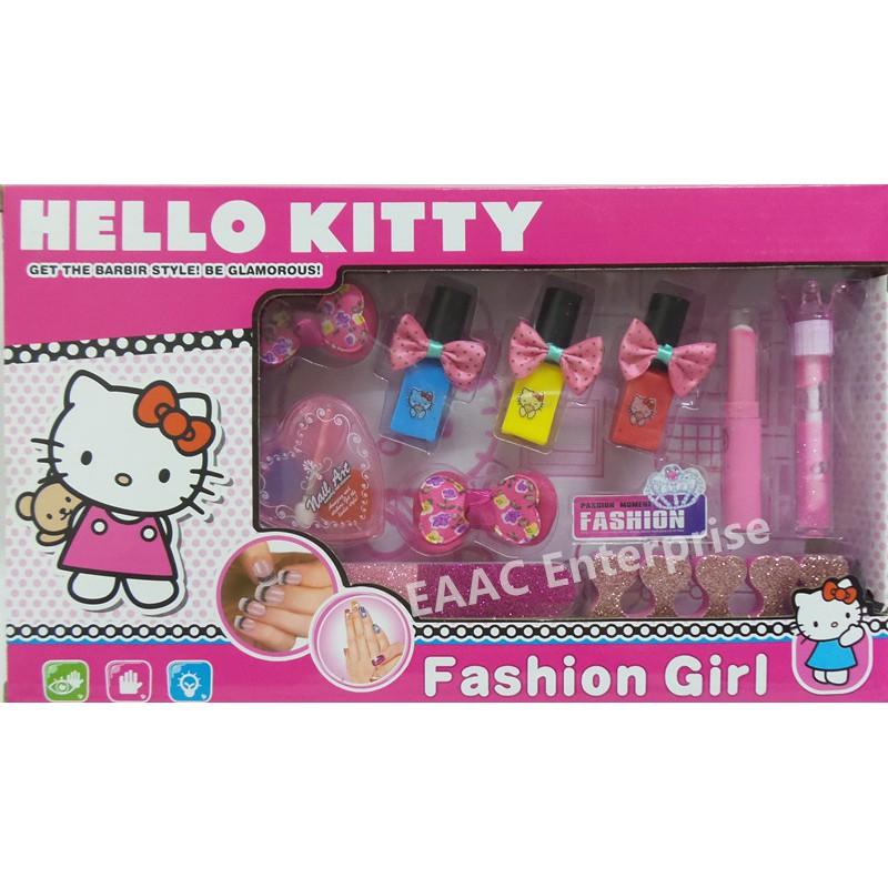 DIY Designable Hello Kitty Nail Art Deluxe Comestic Craft Kit