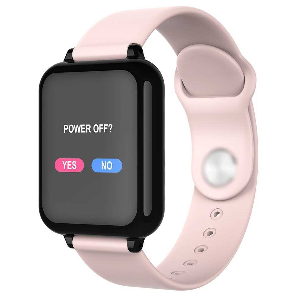 B57C Intelligent Sport Fitness Tracker 1.3in Color Screen IP67 Waterproof Blood Pressure Heart Rate Monitor Watch (Pink