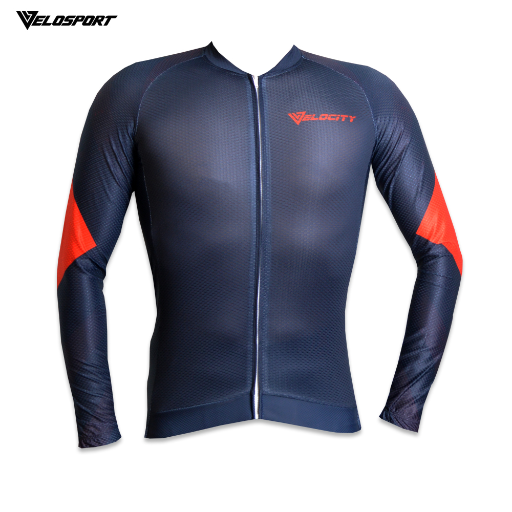 VELOCITY Premium Quality Cycling Jersey Long 4 Material Cycling Jersey Top With Italian Tape