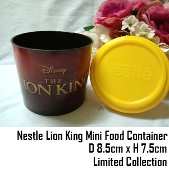 Limited Edition Nestle Lion King Disney Mini Food Container