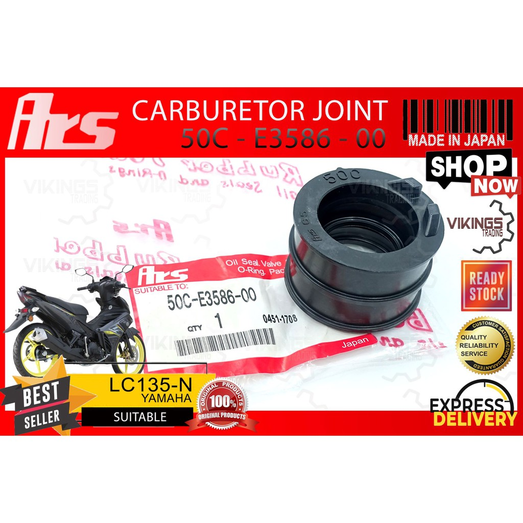 LC135 NEW JAPAN ARS CARBURETOR JOINT RUBBER LC135 NEW 50C-E3586-00