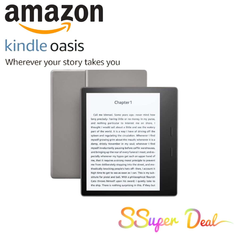 Amazon Kindle Oasis – Now with adjustable warm light – Ad-Supported (Graphite)
