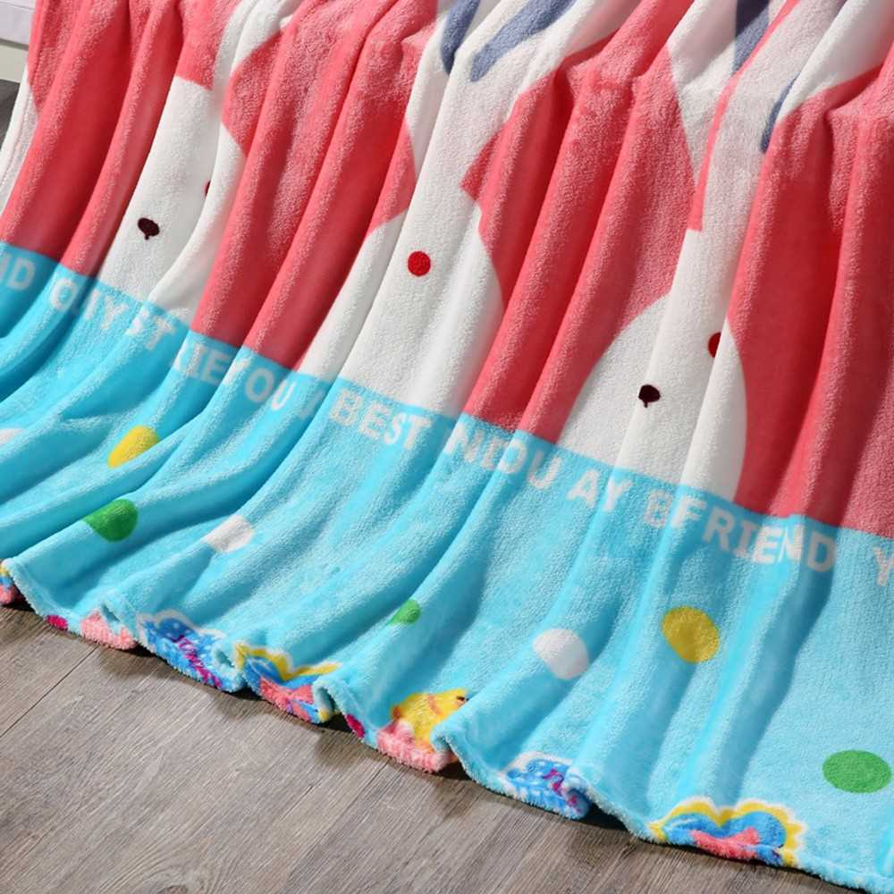 Flannel Polar-fleece Blanket of High Quality Polyester Fiber Soft and Warm 200g/㎡