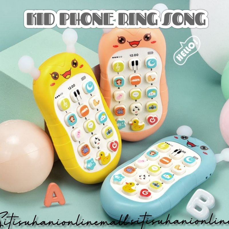 Phone kanak-Kanak Baby chews gum baby simulation mobile phone, preschool music toy, early education