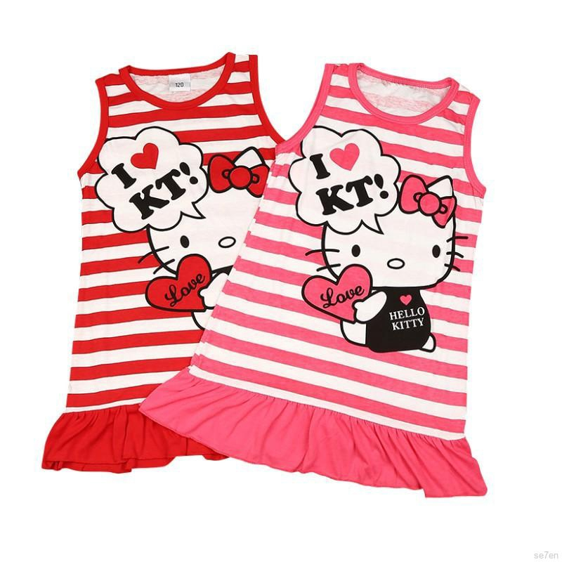 fb94d355c 2Pcs/set Kids Girls Hello Kitty Sleepwear Short Sleeve Pajamas Tops+Long  Pants | Shopee Malaysia