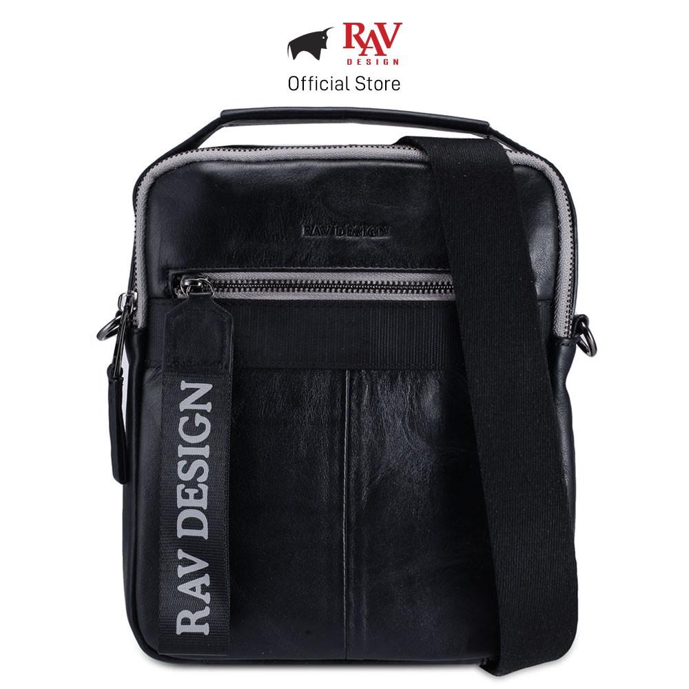 RAV DESIGN Leather Cross Body Bag with Detachable Strap |RVC455G1