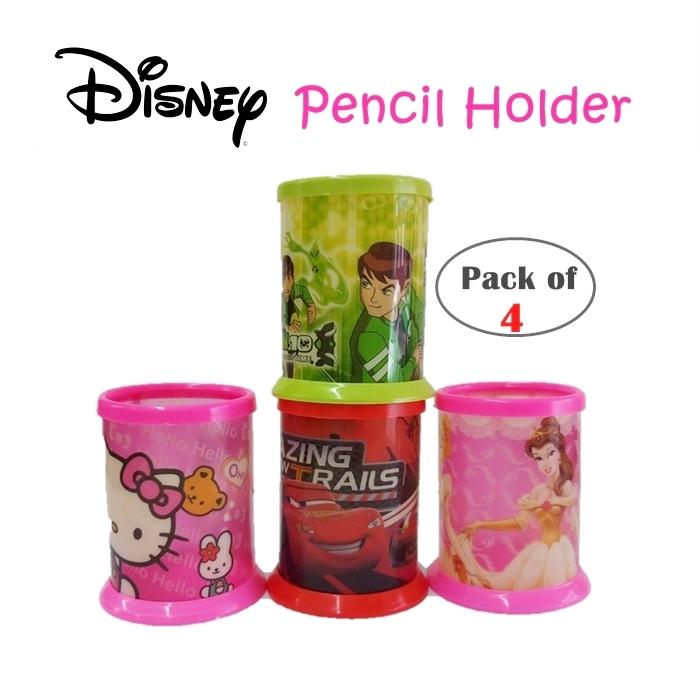 SHIP SELANGOR: 4PCS/SET BEKAS PENCIL ALAT TULIS/ Disney Pencil Holder | Pencil Holder | Pencil Oganizer (Pack Of 4pcs)